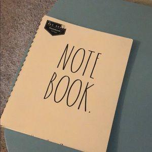 """Rae Dunn """"NOTE BOOK"""" notebook"""